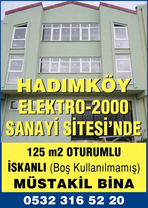 Hadımköy Elektro-2000 sanayi sitesi'nde satılık müstakil bina