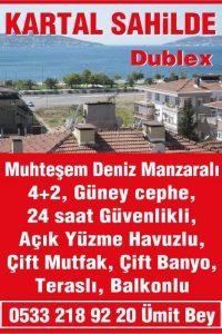 Kartal Sahilde, Satılık Muhteşem, 4+2 Dublex