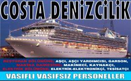 Costa Denizcilik Bugünkü Vasıfsız İş İlanı
