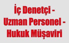 İç Denetçi - Uzman Personel - Hukuk Müşaviri - Konya iş ilanları